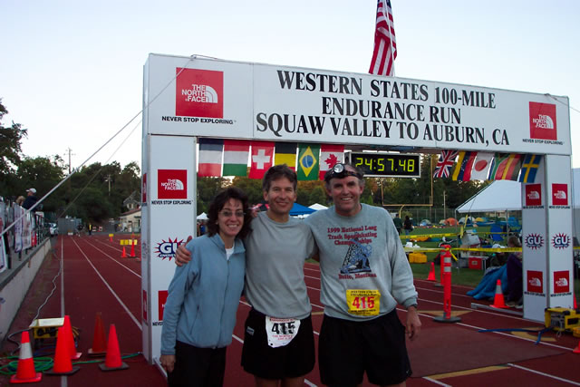 Michelle, Bill, and Peter at the finish