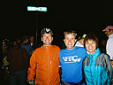 Bill, Keith, and Hiroko in the starting pen