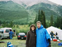 Michelle and Bill at Winfield - the turnaround point