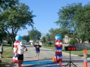 Finisher Line of the Adult Super Sprint Duo : Saturday August 10, 2013