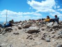 Top of Mt. Elbert at 14,443 feet