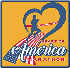 [logo: Heart of America Marathon]