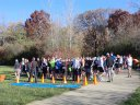 Early Morning - Saturday October 20, 2012 : Start of the DPR Trail Half-Marathon