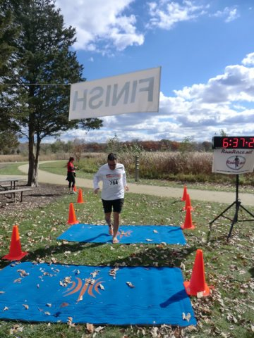 Finish Area of the 2012 DPR Trail Races : Saturday October 20, 2012