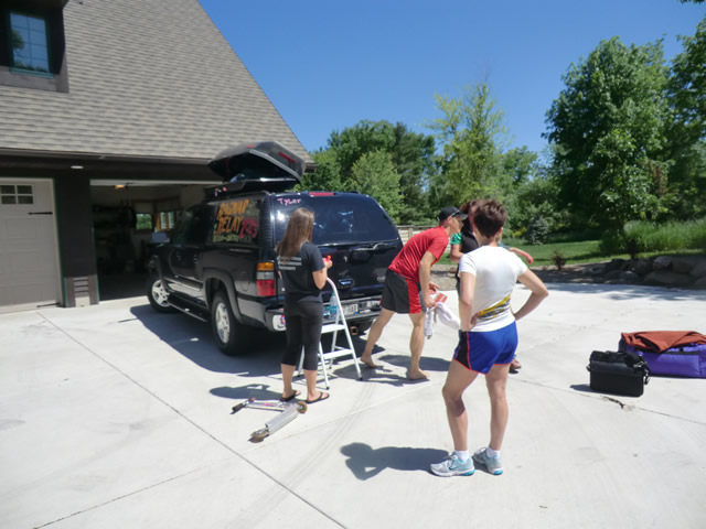 Friday June 7th : Members of Van 2 Gather for Ragnar Battle