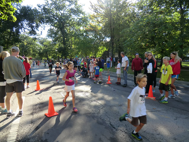 Finishers of the 1 Mile Kids' Run