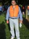 Dan looks fabulous in his reflective vest : Race Gathering