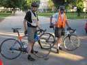 Mike & Paul serve as Bike Patrol on the roads of Norwood Park