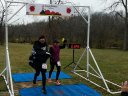 Ricardo Diaz and Claudia Soria Celebrate their 50-Km Finish : Saturday November 15, 2014