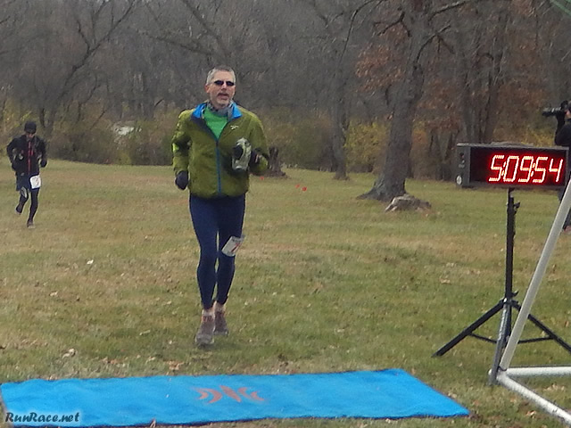 50-Km Veteran, John Zalewski at the Finish Line : Saturday November 15, 2014