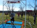 Permian Fall 50-Km runners make their halfway aid station at Pioneer Woods