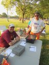 Pre-race gathering and participant check in