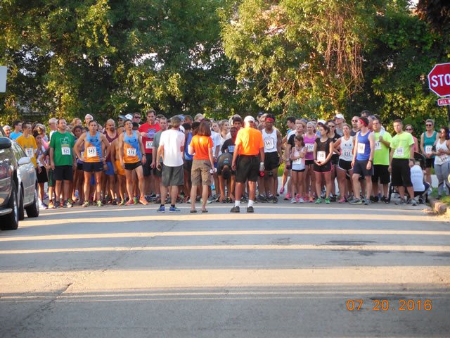 Starting line of the 5-Km featured event!