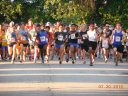 And they're off... start of the 5-Km featured event!