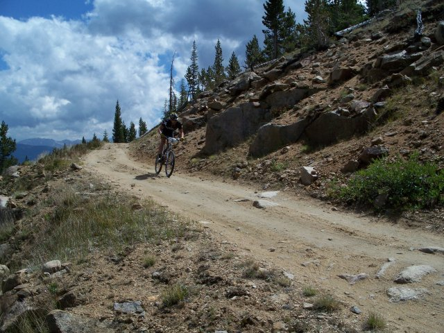 Lung expanding mountain training on Sugarloaf Pass before the Leadville Trail 100