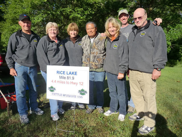 Sunday June 3, 2012 : Captain Manny and the Rice Lake Aid Station Crew