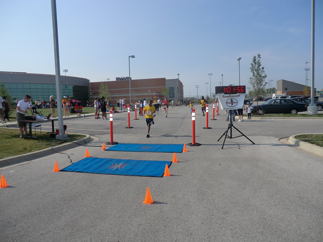 Saturday June 30, 2012 - Runners making the finish of The Great 8K!