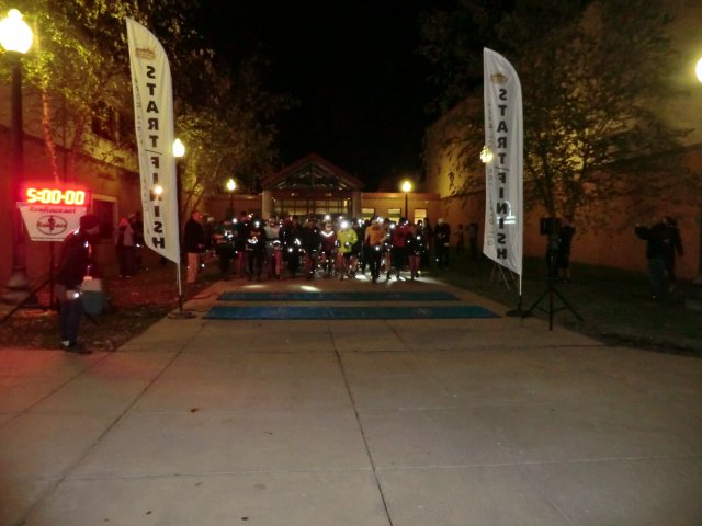 Start of the 4th Annual Oil Creek 100 Mile Trail Run : Saturday October 13, 2012