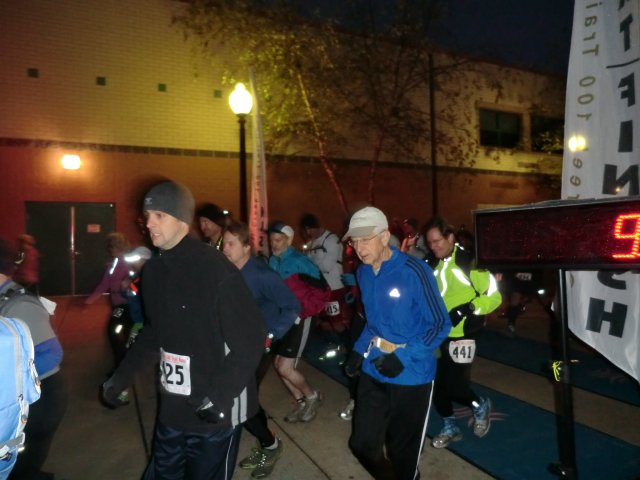 Start of the 4th Annual Oil Creek 50 Kilometer Trail Run : Saturday October 13, 2012