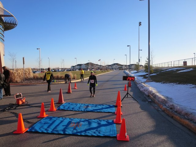 Finishing the 3rd Annual Matteson Community Center's Dash Into the New Year 5k
