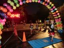 Top participants make their finish line in the inaugural MSW Light Up the Night 5k!