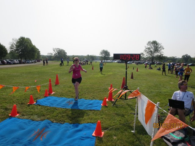 Another happy scene at the Run Dirty finish