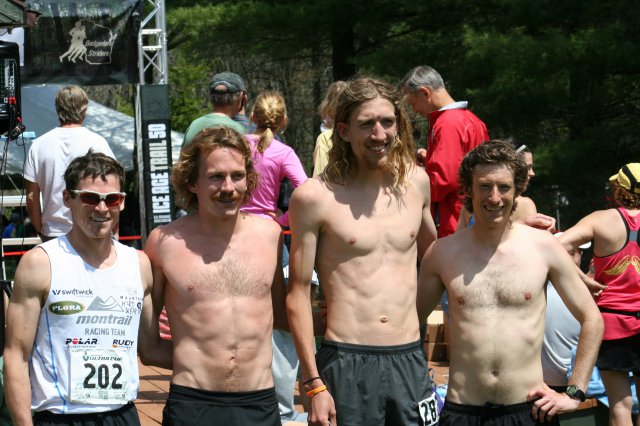 4 guys under 6 hours at the finish line