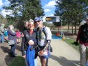 Legendary Ultra-Couple Juli & Valdis Aistars at the Finish of Val's Marathon