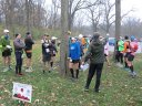 Participants gather for the 8:30 am start of their 50-Km run