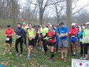 Participants gather for the 9:00 am start of their 25-Km run