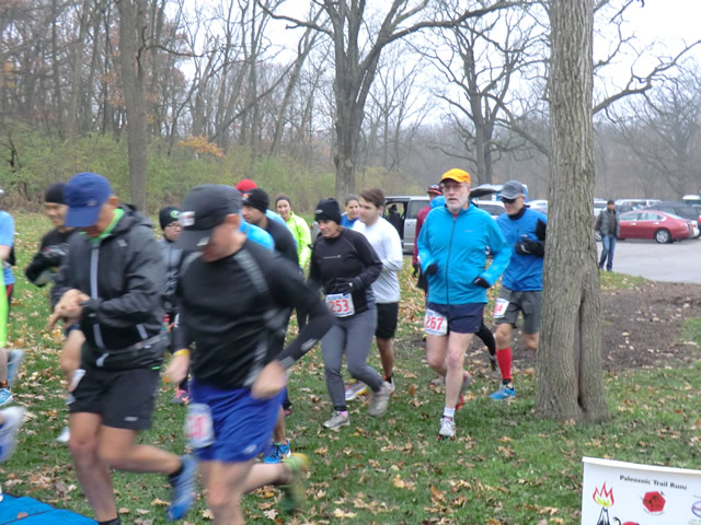 And they're off... Start of the Carboniferous Fall 25-Km