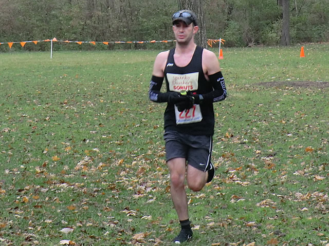 First-tme ultra-runner Michael Cozza completes lap one of Carboniferous Fall 50-Km