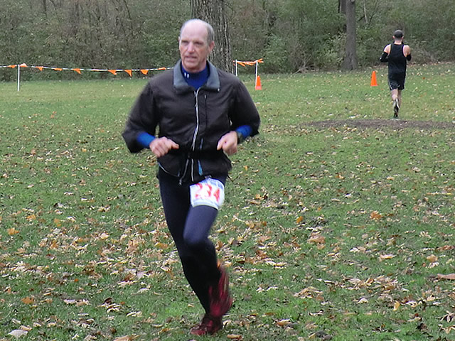 John Kiser completes lap one as Michael Cozza starts lap two of Carboniferous Fall 50-Km