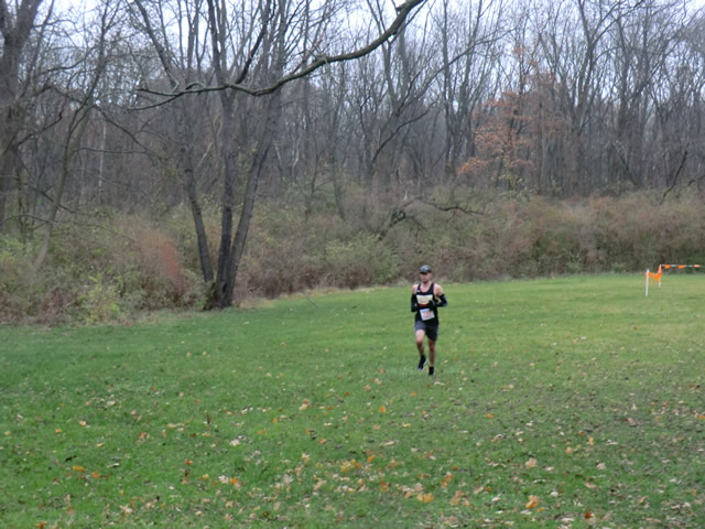 Michael Cozza winds through the parade loop on his second lap of Carboniferous Fall 50-Km