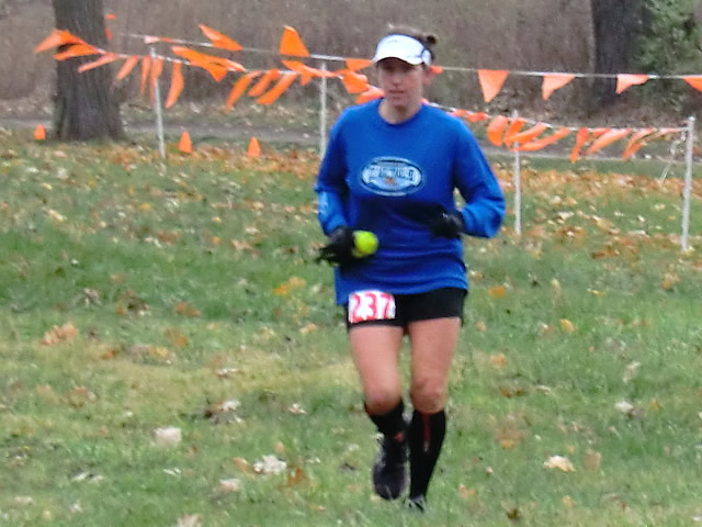 Shelley Cook is 'top chick' to complete lap one of Carboniferous Fall 50-Km