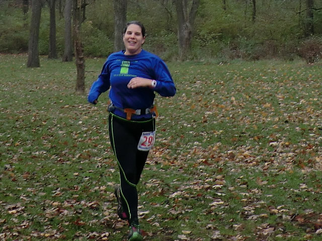 Finishing strong is Susan Smock of Paleo-Carb 25-Km