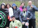 A triumphant photo-op for Chi City Running Club at Paleozoic Trail Runs - Carboniferous Fall!