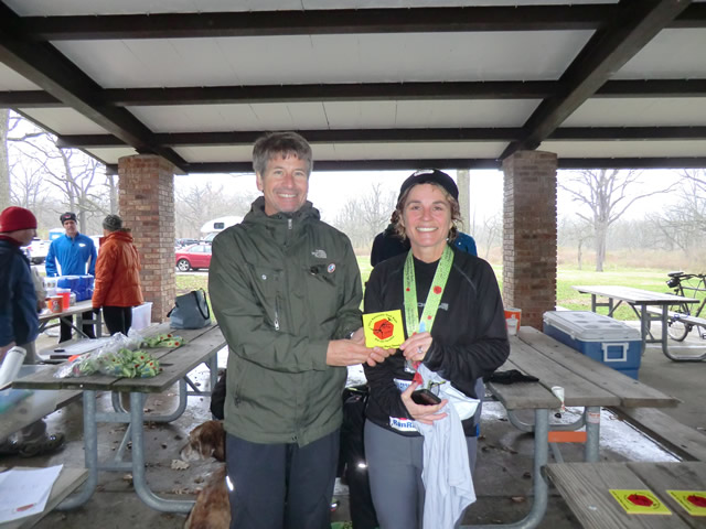 Karyn Retzbach-Saplis earns first place age group in the Paleo-Carb 25-Km!