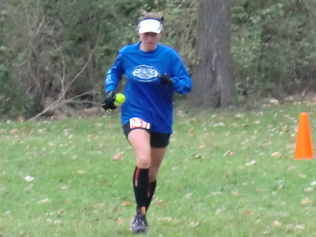 Shelley Cook... Carboniferous Fall 50-Km female race champion!