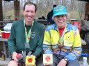 Basking in the afterglow... Jason and Rich earn top spots in their respective age group!