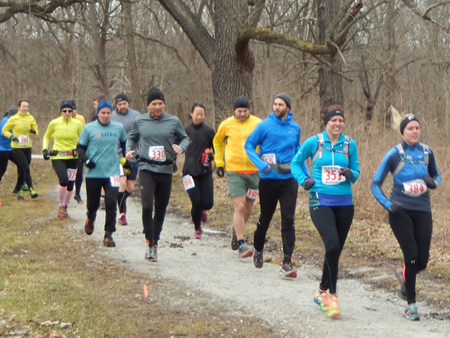 25-Km Runners Hit the Crushed Gravel Trail : Saturday March 22, 2014