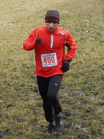 Dan Regalado (#400) leads all Cambrian Spring 25-Km Runners to His 2nd Consecutive PTR Victory