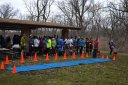 50-Km Runners Line Up for Their Start : Laurel Childress