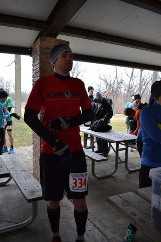 25-Km Runners Prepare for their Adventure at Palos Park Woods-North : Laurel Childress