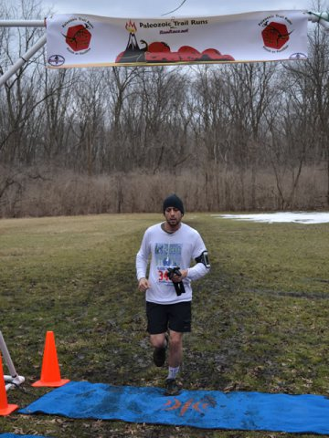 Race Action at the Aid Station of Palos Park Woods-North : Laurel Childress