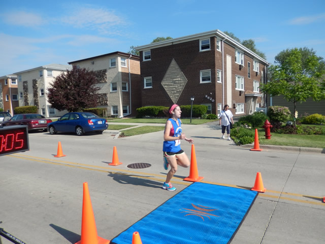 Finish Line of the 2nd Annual River Grove FOP Charity Run : Sunday June 1st, 2014