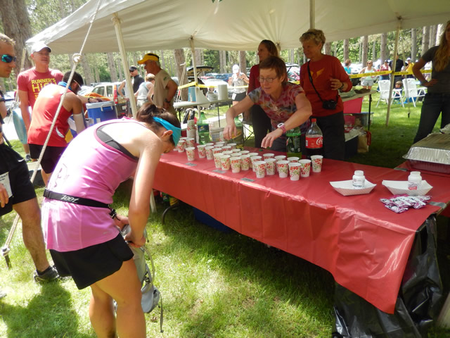 Bustling Activity of the Scuppernong Aid Station : Saturday June 7th, 2014
