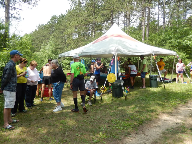 Action at the Recently Relocated Aid Station of Hwy ZZ : Saturday June 7th, 2014