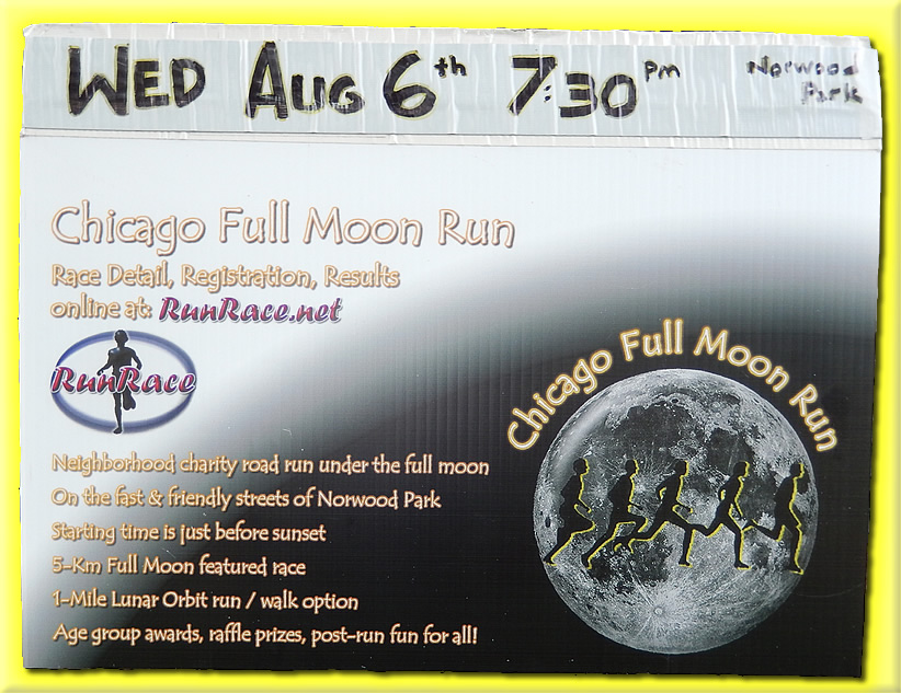 3rd Annual Chicago Full Moon Run - Wednesday August 6th - 7:30