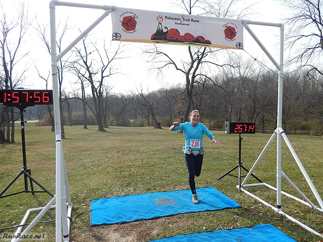 25-Km First Place Female, Paula O'Connor : Saturday November 15, 2014